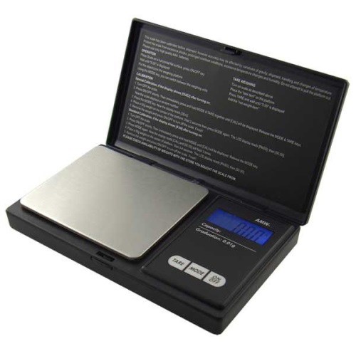 AWS-100 Digital Pocket Jewelry Carat Scale 100g x 0.01g Black