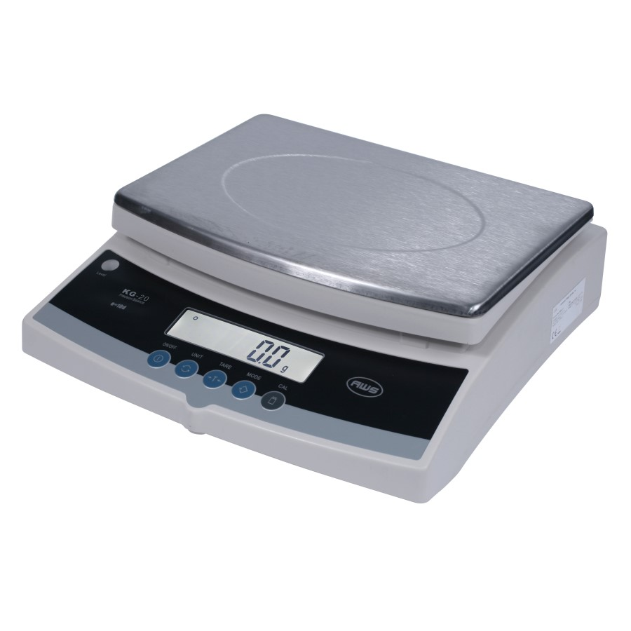AWS KGX-20 High Capacity Precision Bench Scale 20kg x 0.1g