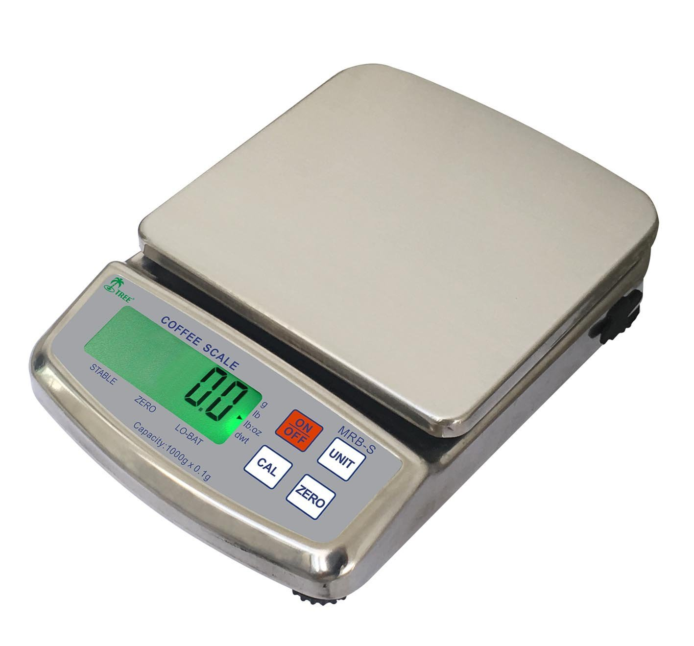 Tree MRB-S-1001 Stainless Barista Coffee Scale 1000g x 0.1g