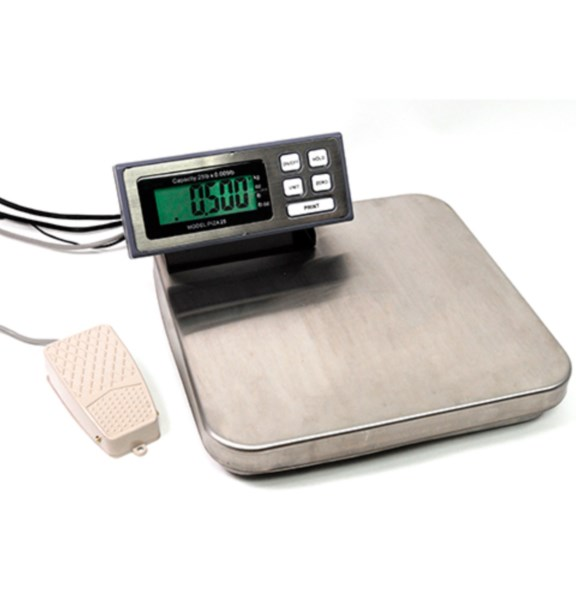 Pizza Kitchen Bench Scale 25lbs x 0.005lb Tree PIZA 25 RS232 AC