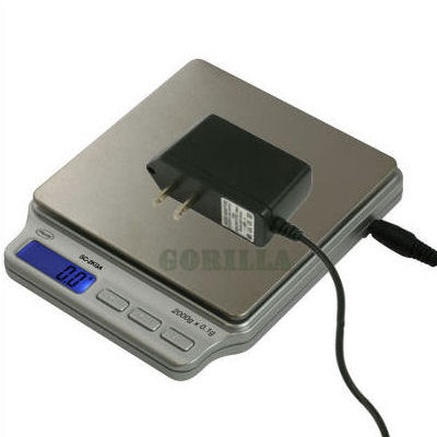 AWS SC-2KGA Digital Pocket Scale 2000g x 0.1g AC Adapter