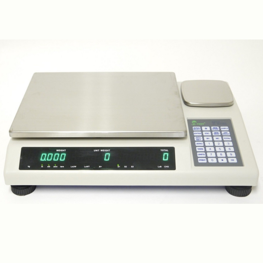 Tree DCT 50 Dual Counting Bench Scale 50lb x 0.001lb RS232C AC