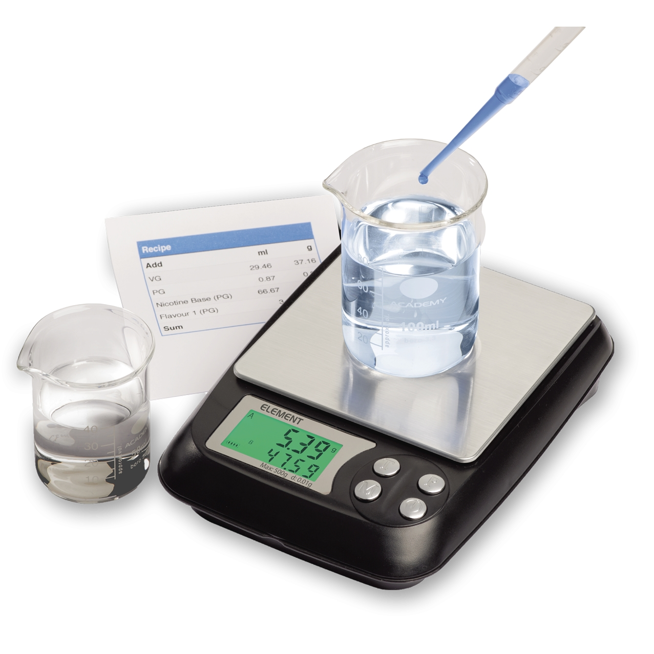TruWeigh ELEMENT E-Liquid Measuring Weigh Scale 500g x 0.01g
