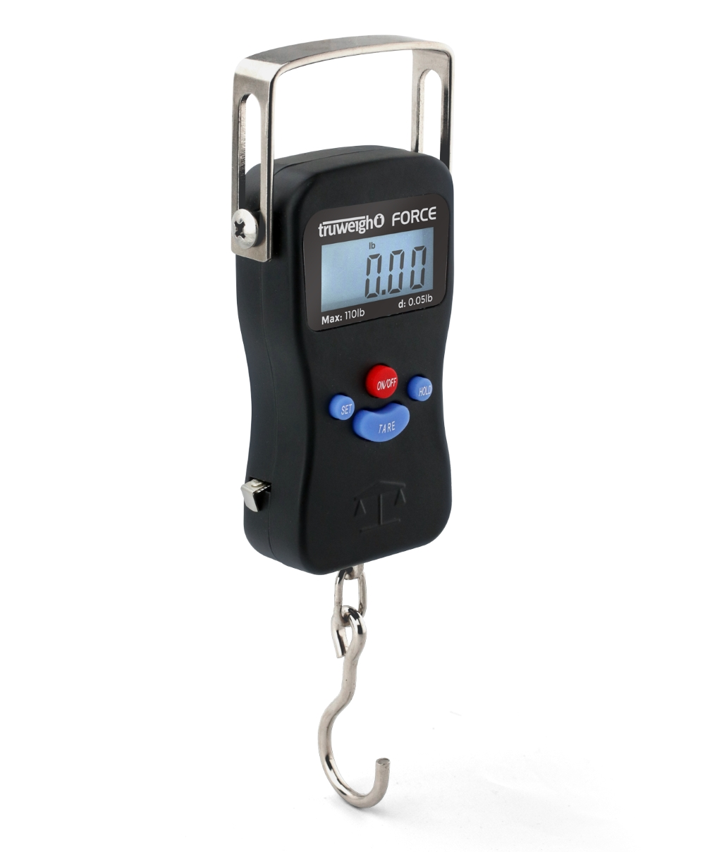TruWeigh Force Digital Hanging Scale 110lb x 0.05 Pound Black
