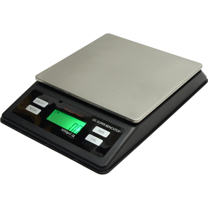 US Balance Super Bench Top Portable Weigh Scale 3000g x 0.1g